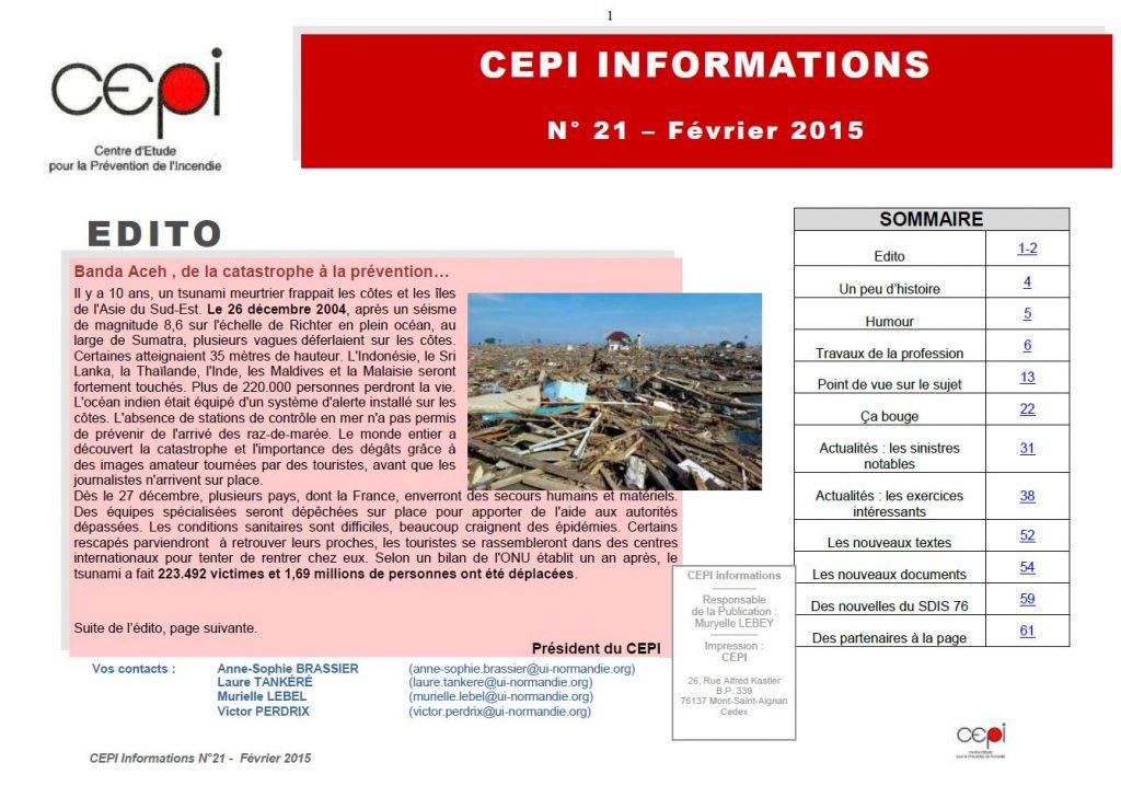 Lettre CEPI - Février 2015