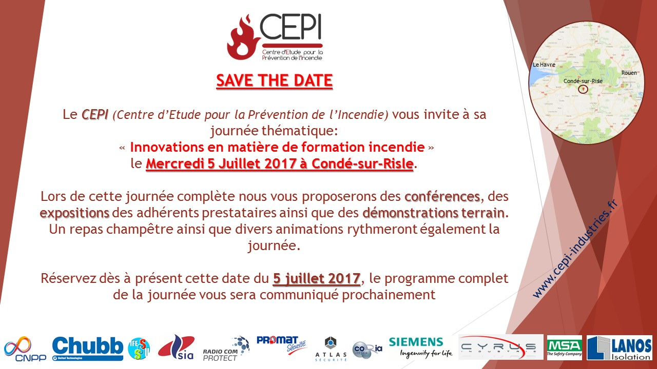 SAVE THE DATE – 5 juillet 2017